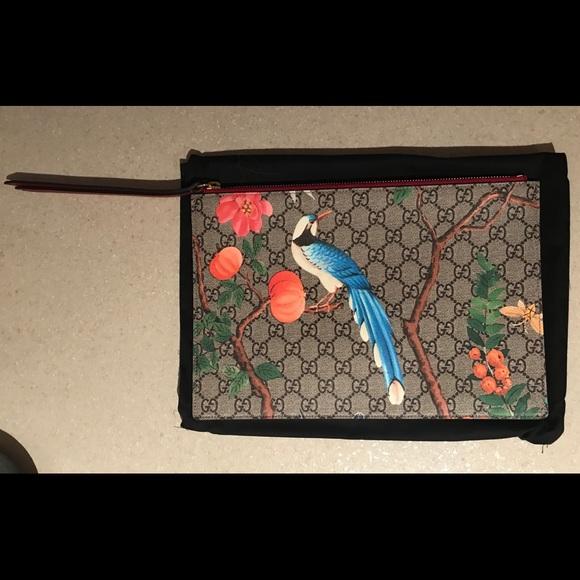 c50da9b20 Gucci Handbags - Authentic Gucci, GG Supreme Tian Canvas Zip Pouch